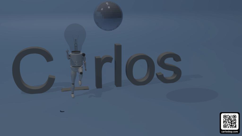 Robot bailando tras aplastar la letra