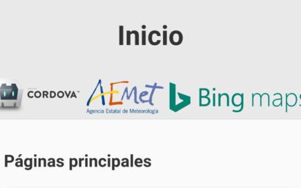 Captura de aplicación AEMET