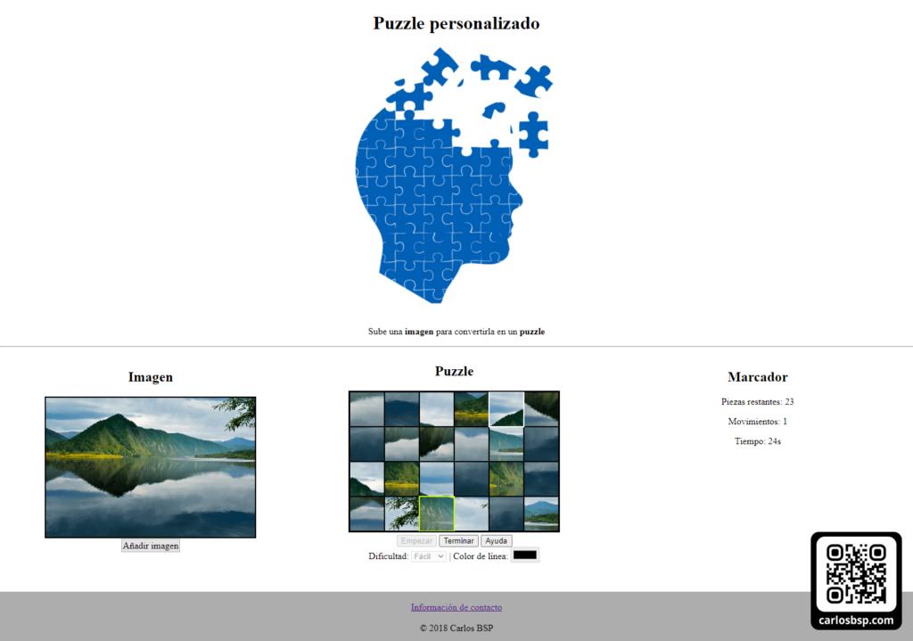 Juego de puzzle personalizado