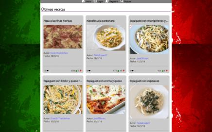 """Sitio web llamado """"El italiano"""""""