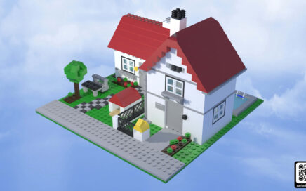 Render general de la casa de lego