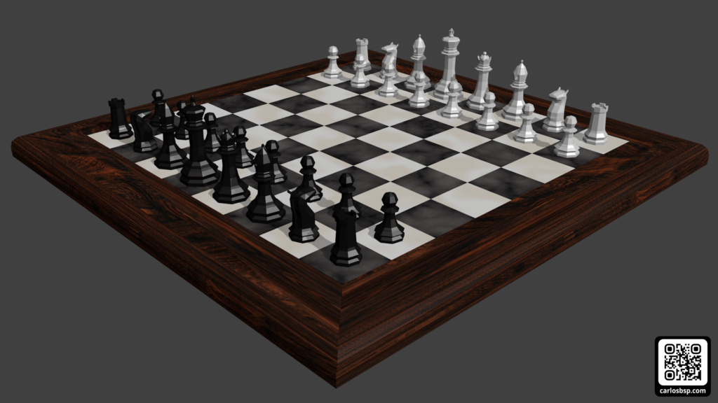 Render de el tablero de ajedrez