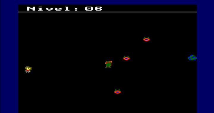 "Captura del videojuego ""Dragon Egg"""
