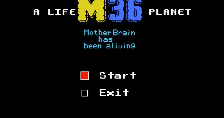 "Menú principal del juego ""A life M36 Planet"""
